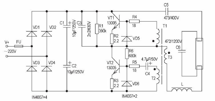 40w tube light electronic choke circuit diagram somurich 40w tube light electronic choke circuit diagram how to maintain and repair the fluorescent ballast ccuart Image collections