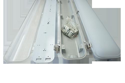 Tri Proof Led Light Dual Tubes Ip65 Ce Rohs